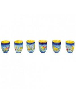 Set de 6 petit verre pour le Kiddoush Paradis