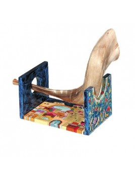 Wooden Shofar stand - small
