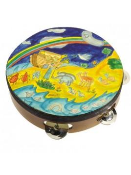 Tambourin de Myriam sur cuir Myriam