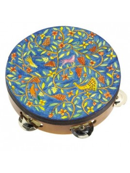 Tambourin de Myriam sur cuir Colombe du paradis