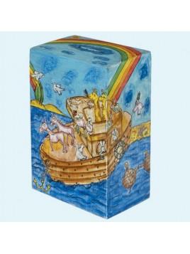 Boite de Tsedaka rectangulaire Arche de Noe