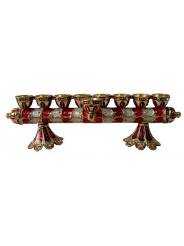 Chanukkia and Candle Holder Filigree