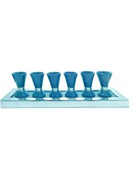 Wine Set Enamel Blue