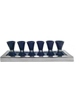 Wine Set Enamel Navy Blue