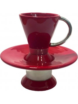 Wash Cup Enamel Marron