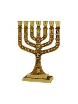 Menorah Knesset 22 cm Brass