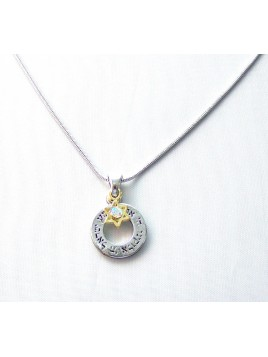 Collier pendentif Chema Israel et Maguen David