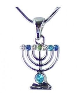 Bijoux Menorah sertie de cristaux