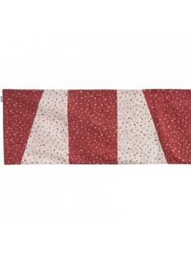 Centre de Table 100 cm Rouge Blanc