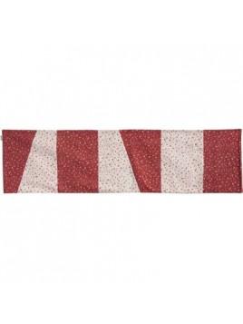 Centre de Table 150 cm Rouge Blanc