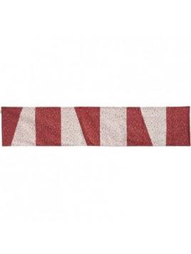 Centre de Table 200 cm Rouge Blanc