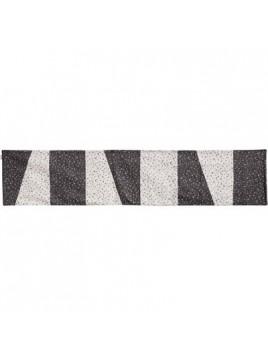 Centre de Table 200 cm en noir et blanc