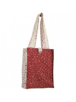 Cartable solide, rouge blanc /