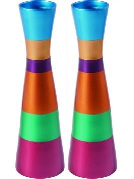 Chandeliers du chabbath anodisé coloré