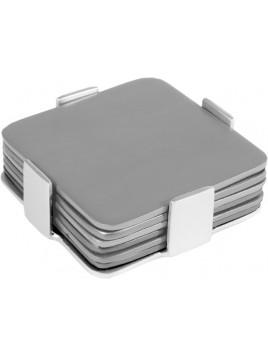 Set de 6 sous verres métal aluminium