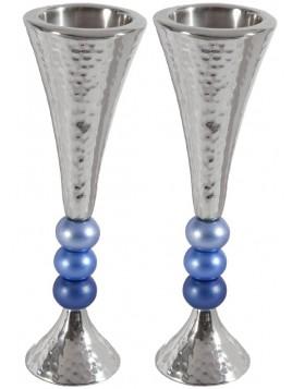Bougeoirs 3 pierres Bleu
