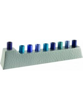 Hannoukiah bâtons bleu