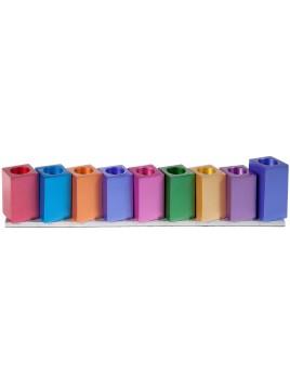 Hanoukiah cubes multicolore