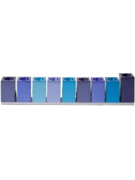 Hanoukiah cubes bleu