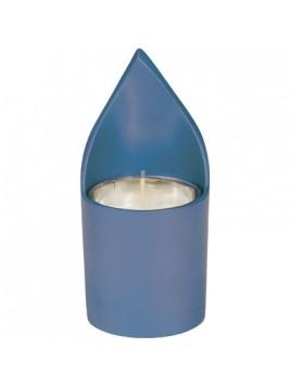 Pose veilleuse Ner Nechama anodisé bleu Avec bougie