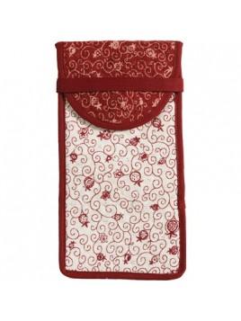 Lunettes de portefeuille, rouges et blancs