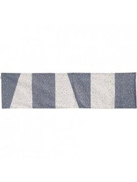 Centre de Table 150 cm Bleu et Blanc