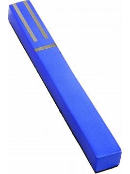 Boitier de Mezouza Shin Géométrique bleu