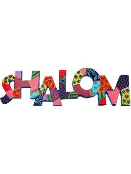 """Décoration Murale en métal """"Shalom"""" En anglais"""