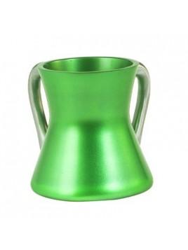 Keli de Netilat Yadayim en métal anodisé Petit vert