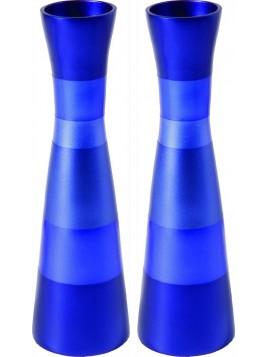 Chandeliers de Chabbath anodisé Bleu