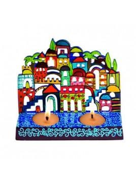 Chandeliers découpe de métal peint Jérusalem