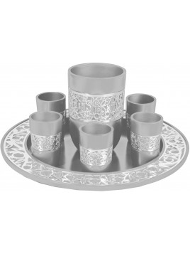 Set de Kidouch broderie argenté Aluminium