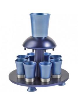Fontaine a vin anodisé Bleu