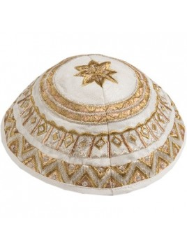 Kippa Avec broderie מופשט Couleur Or