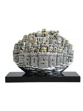 Panorama de Jerusalem Plaque argent 925