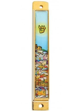 Boitier Mezouzah 7 cm Jerusalem